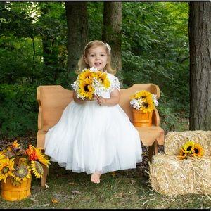 Flower Girl Dress White 3T
